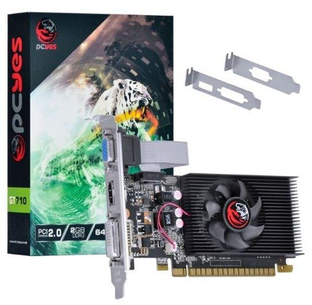 Placa de video nvidia gforce gt 710 2gb ddr3 64bits