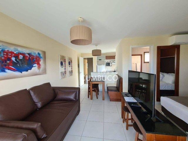 Apartamento com 1 dormitório para alugar, 39 m² por R$ 2.800/mês - Cumbuco - Caucaia/CE - Foto 3