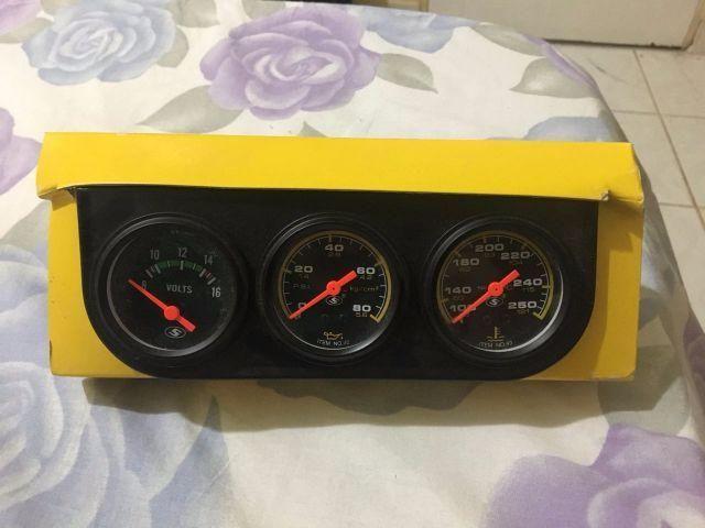 Kit 3 Relógios Automotivo