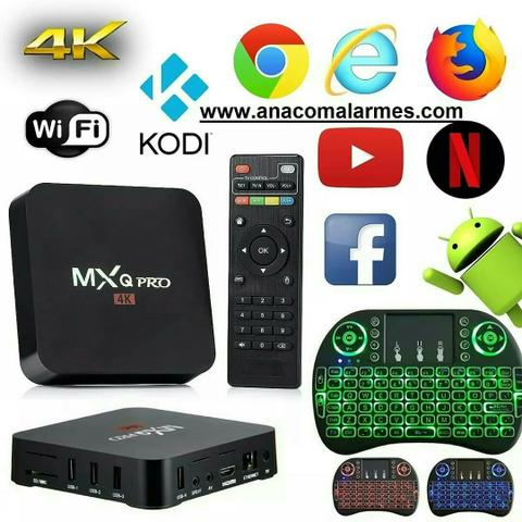Tv box Mxq Pro 4k 3gb ram/16gb, Android 8.1 converte tv comum em Smart Tv NOVO na Caixa - Foto 3