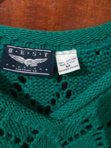 Blusa feminina comprida verde - Foto 4