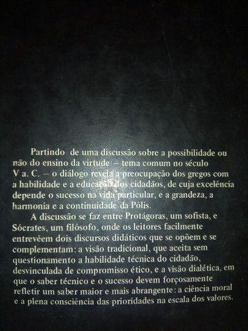 """Livro usado """"Protágoras""""; Platão, com estudo introdutório - Foto 2"""