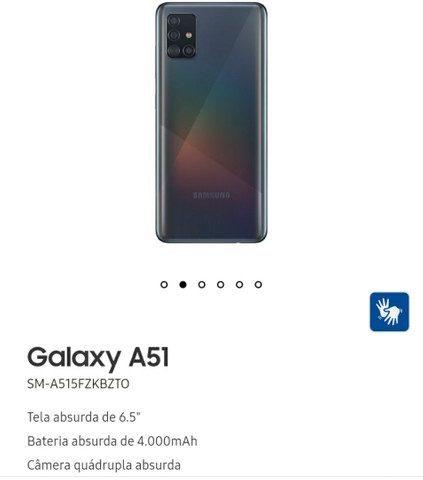Samsung A51 com relógio  - Foto 2