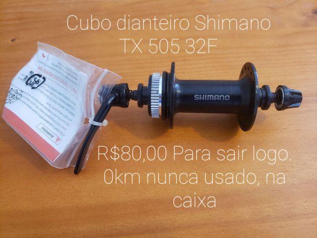 Cubo dianteiro Shimano TX 505 32F