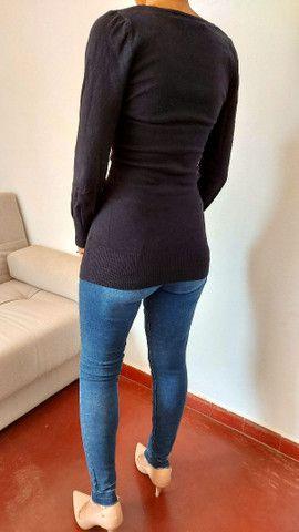 Calça jeans Siberian, blusa tricô preta, bermuda alfaiataria, camiseta forever 21  - Foto 5