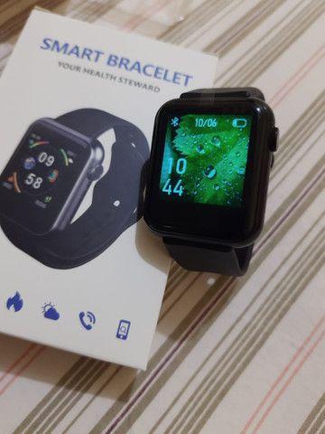 Pra ir Logo !! Smartwatch NOVO!! Pode colocar fotos!! (Aceito Cartão) - Foto 2