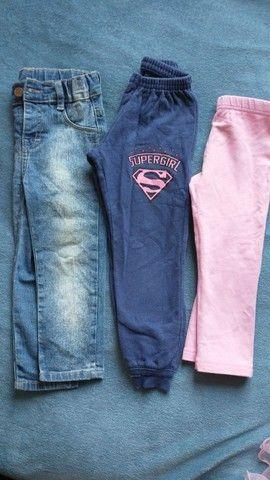 7 calças - menina 2 anos