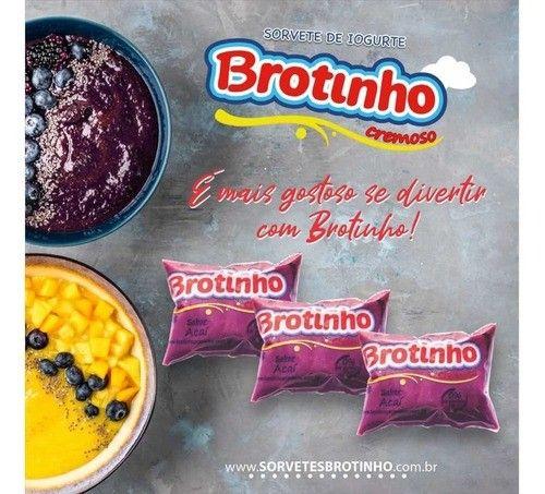 Brotinho - Sorvete de Iogurte Cremoso, 85g com 50unds - Foto 2