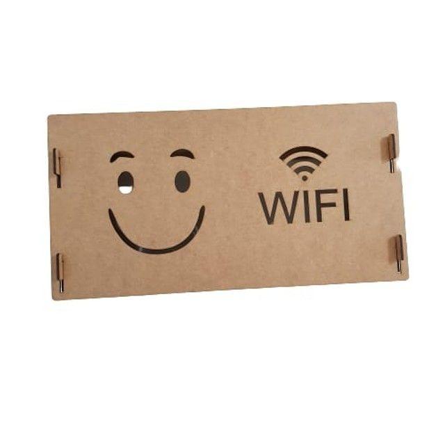 suporte wifi roteador mdf cru