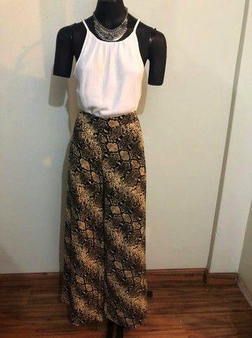 Pantalona animal print Zinzane (G) - R$49,90