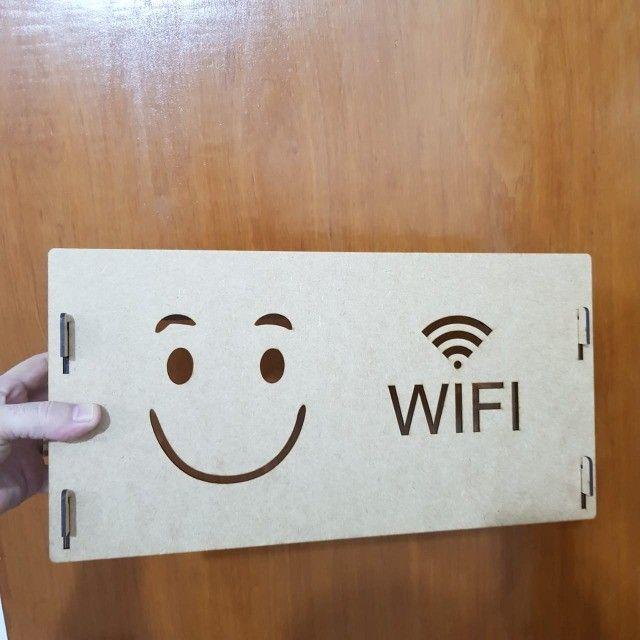 suporte wifi roteador mdf cru - Foto 4
