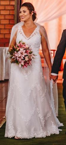 de9b741b3 Vestido de noiva + véu da Marca San Patrick - Roupas e calçados ...