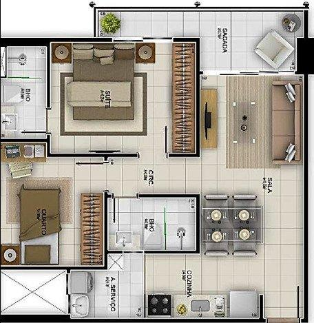 Villa Real, ap de 2 quartos, 60m2, lazer completo, prédio novo, NEGOCIE!!! - Foto 3