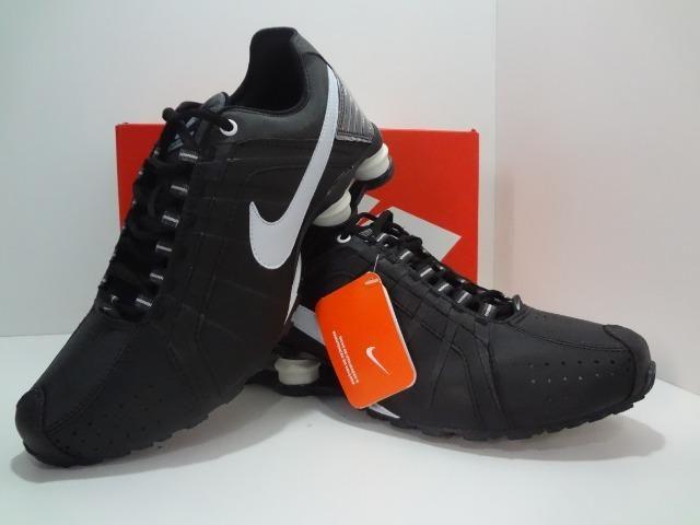 15f7a67c14966 Nike Shox 4 Molas Preto /Branco//// =Aceitamos Cartões - Roupas e ...