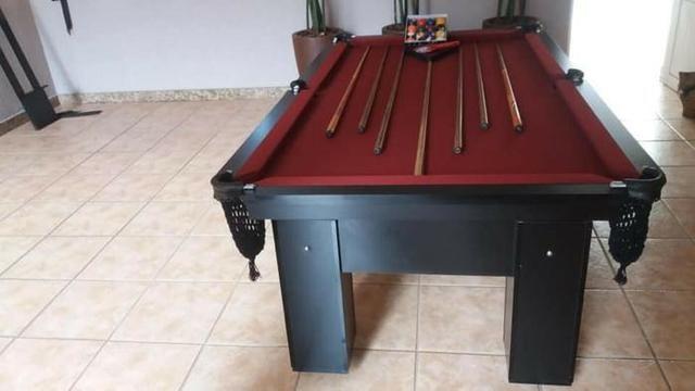 Mesa de Bilhar Tecido Bordo Cor Preta Modelo THT4154 - Foto 5