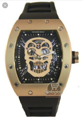 6f3d4da9f98 Relógio Richard Mille Skelleton dourado - Bijouterias