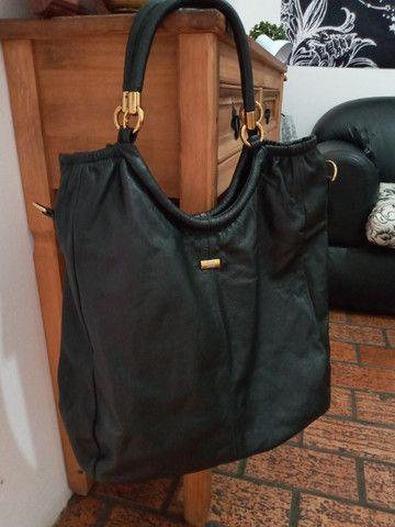 Bolsa em couro preta - Steil - Foto 2