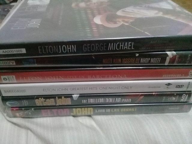 Lote c/ 6 dvds Elton John originais 4 deles lacrados