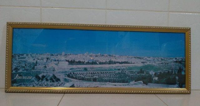 Quadro Com Foto Panorâmica De Jerusalém 1995 Original do Oriente Médio - Foto 3
