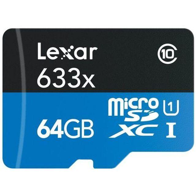 cartão de memória lexar 64gb  - Foto 2