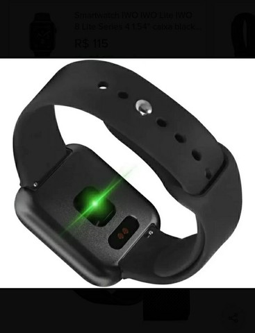 Relógio SmartwatchP70 com 2 pulseiras (aço/silicone) pretas.<br><br> - Foto 4
