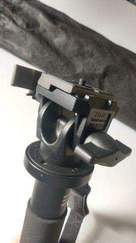 Monopé Gitzo Gm 3551 Fibra De Carbono Com Cabeça Manfrotto - Foto 6