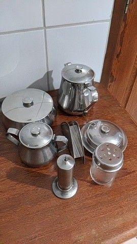 Conjunto de chá/café + escorredor inox - Foto 6