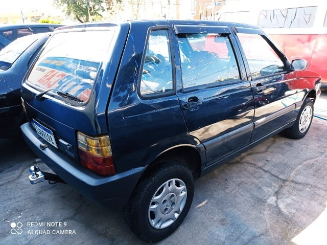 Fiat Uno Mille 4p 1.0 EP 1996 Azul (S/ Entrada R$: 399,90) Top Car Aprova Fácil - Foto 5