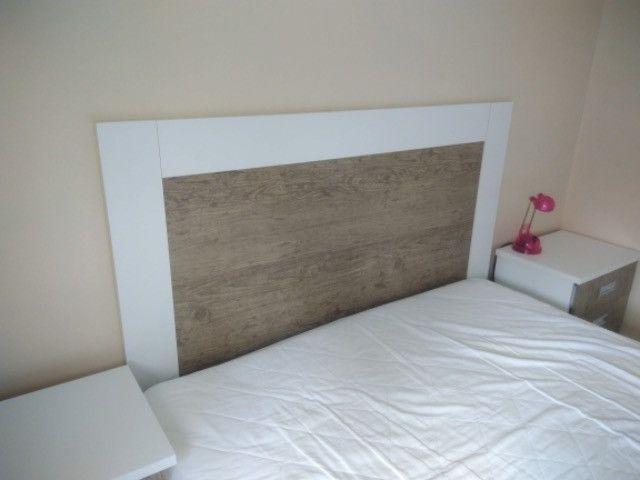 Liquidando!Móveis lindos p/ dormitório. Inclusos: 2 criados mudos + linda cabeceira casal - Foto 2