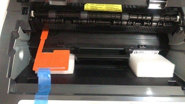 Impressora Hp 107w Com Wifi 110v Branca E Preta - Foto 3