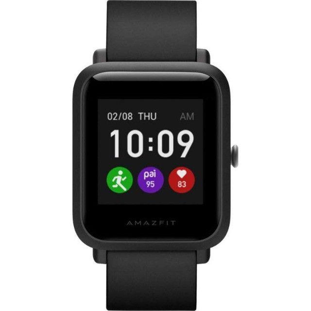 Relógio Amazfit Bip S Lite A1823 - Charcoal Black - 12X Sem Juros