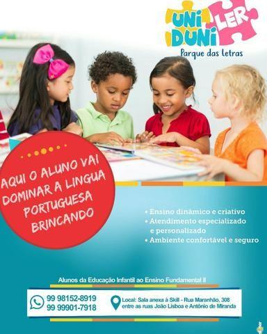 Reforço escolar em língua portuguesa