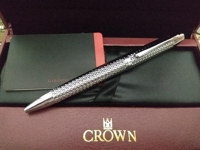 Caneta Crown Roller Ball Royal Collection Filigran Silver Prata - Foto 4