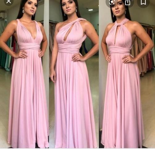 Vestido Multiformas Rosê