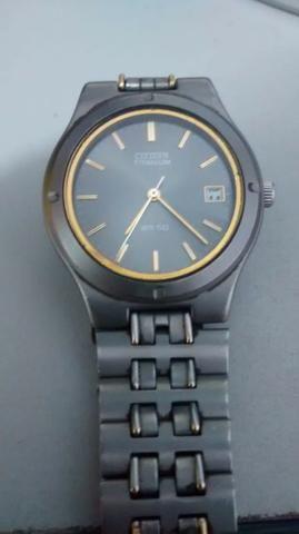 1935504b3a9 Relógio Citizen Titanium Wr50 - Bijouterias
