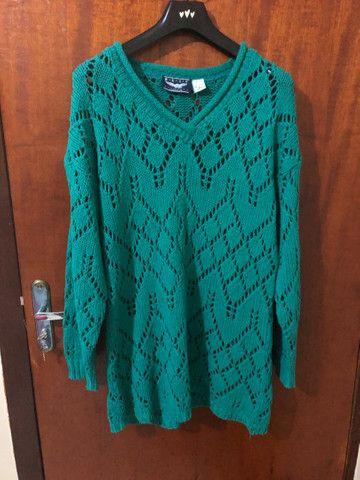 Blusa feminina comprida verde