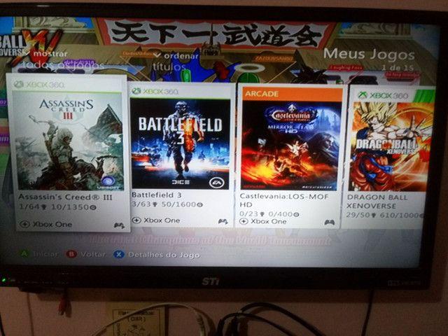 Xbox360 bloqueado com jogos originais preço negocialvel - Foto 2