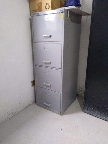 Gaveteiro arquivo pasta suspensa 4 gavetas