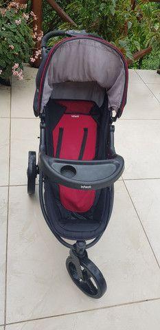 Carrinho de bebê com bebê conforto  - Foto 4