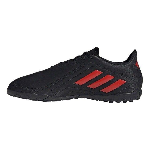 Chuteira Society Adidas Deportivo - Exclusiva - Preto+Vermelho - Foto 3
