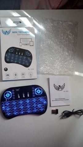 Mini teclado controle S/fio com touch (Promoção) NOVO - Foto 2