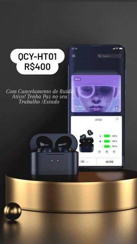 Fone de ouvido QCY-HT01 Promoção APTx-30h ANC
