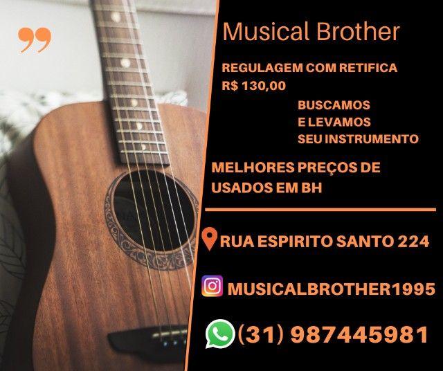 Manutenção de violão de violão na Musical Brother