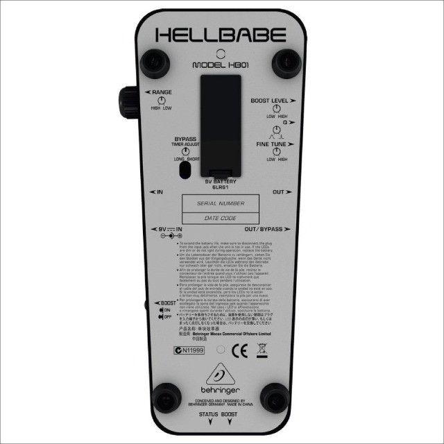 Pedal Behringer Hell Babe Hb01 Ultimate Wah-wah C/ Garantia - Foto 2