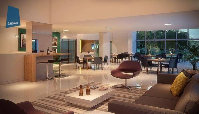 Apartamento com 2 dormitórios à venda, 56 m² por R$ 374.749,10 - Benfica - Fortaleza/CE - Foto 2