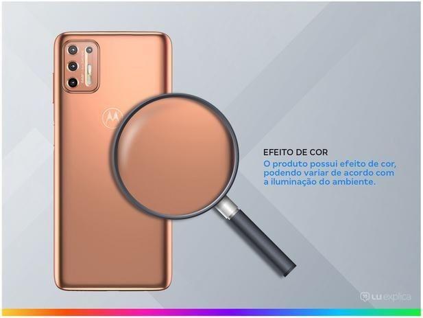 Smartphone Motorola Moto G9 Plus 128GB Ouro Rosê<br><br> - Foto 3