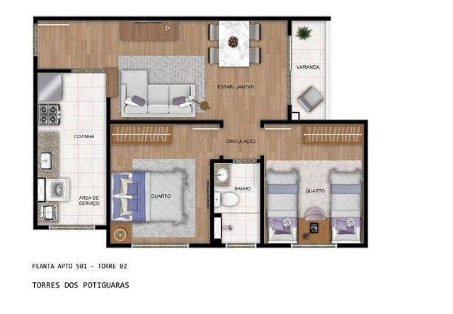 Apartamento em Cidade Satélite - Um/Dois Quartos - 40m²/50m² - Torres dos Potiguaras - Foto 13