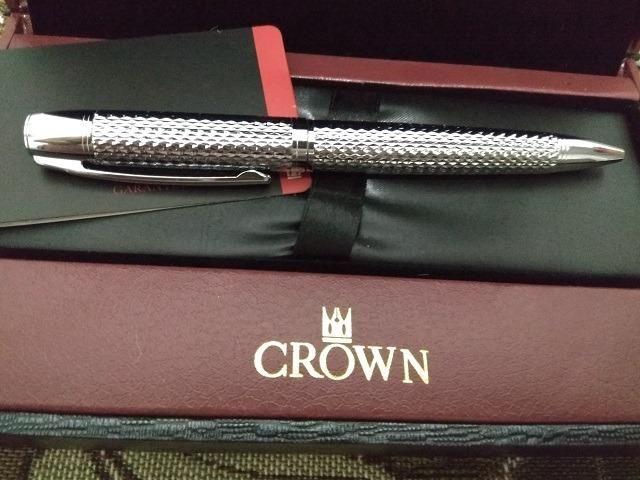 Caneta Crown Roller Ball Royal Collection Filigran Silver Prata