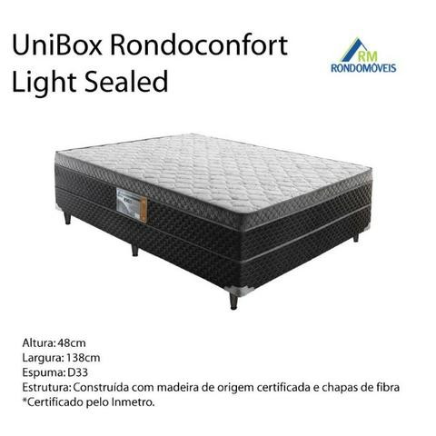 Cama Box de Casal K139 - Unibox Light Sealed - Foto 4