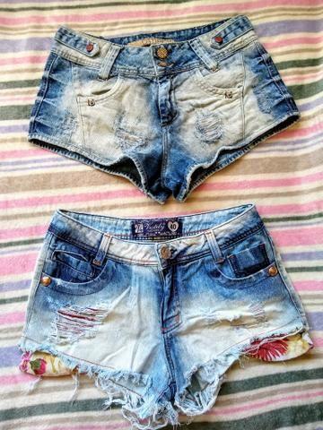 ec6c30c1db1aa6 Short Jeans Cintura Baixa